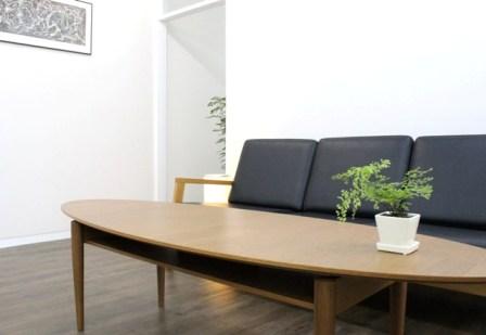 お客様にくつろいで頂くソファの写真